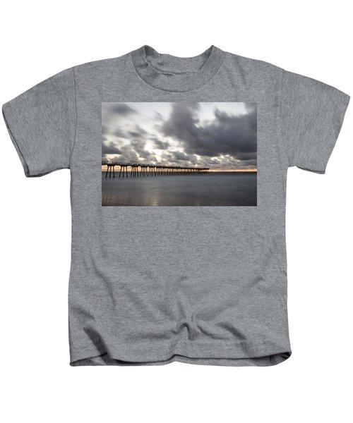Pier In Misty Waters Kids T-Shirt