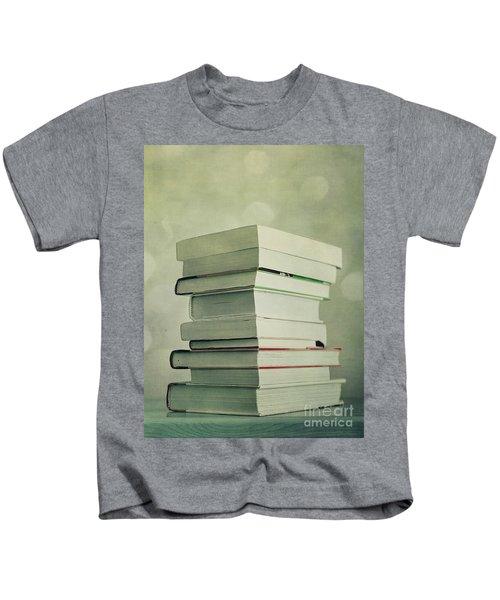 Piled Reading Matter Kids T-Shirt