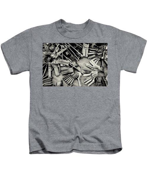 Piles Of Blank Keys In Monochrome Kids T-Shirt