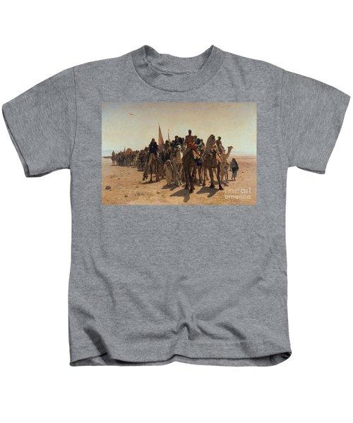 Pilgrims Going To Mecca Kids T-Shirt
