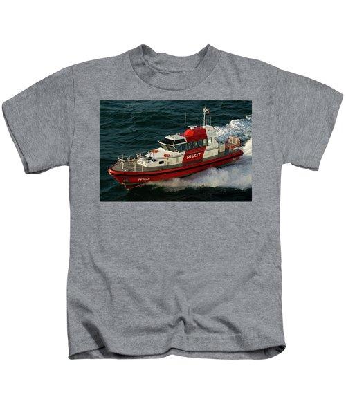 Pilot Boat Wellington Kids T-Shirt