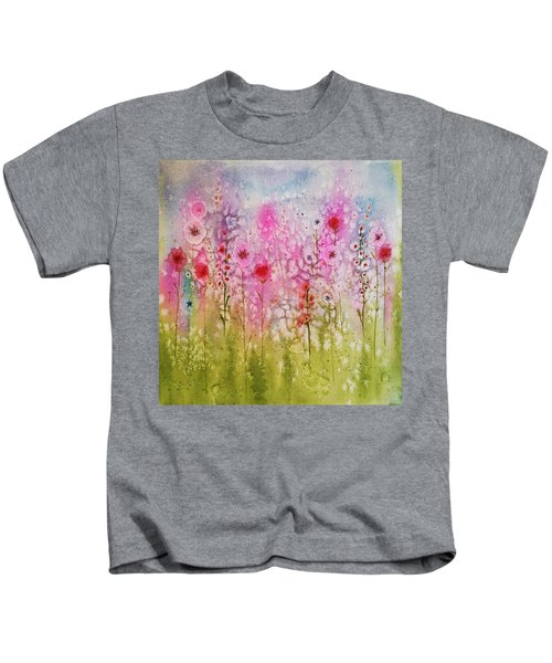 Pink Abstract Kids T-Shirt