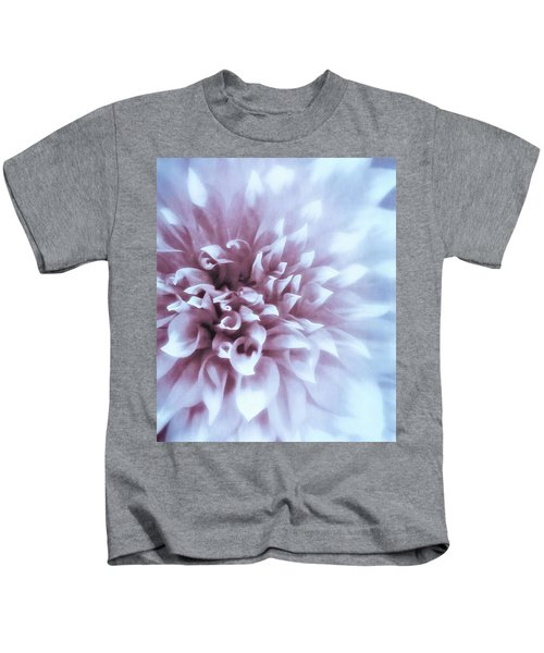 Pink And Blue Dahlia Kids T-Shirt