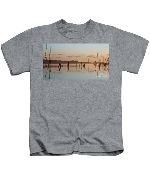 Pink And Blue Skies Kids T-Shirt