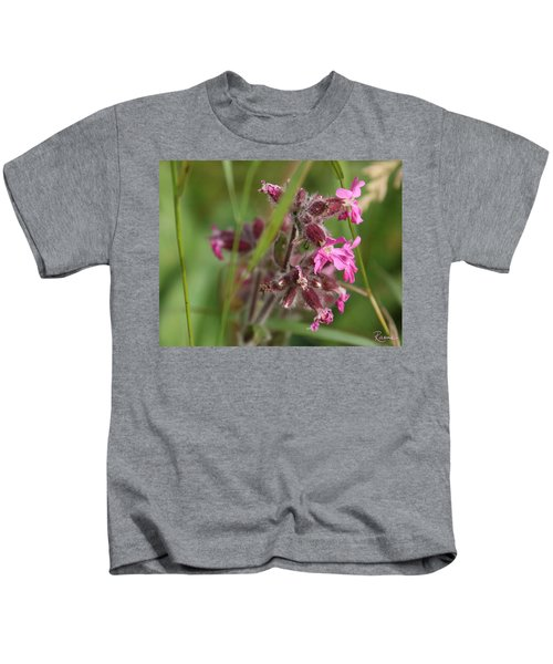 Pink Campion In August Kids T-Shirt