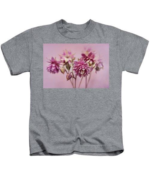 Pink Columbines Kids T-Shirt