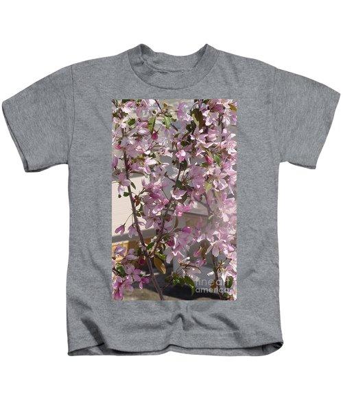 Pink Crabapple Branch Kids T-Shirt