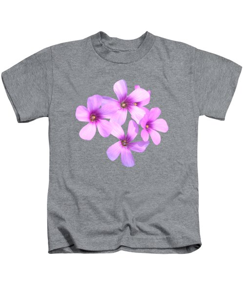 Pink Cutout Flowers Kids T-Shirt