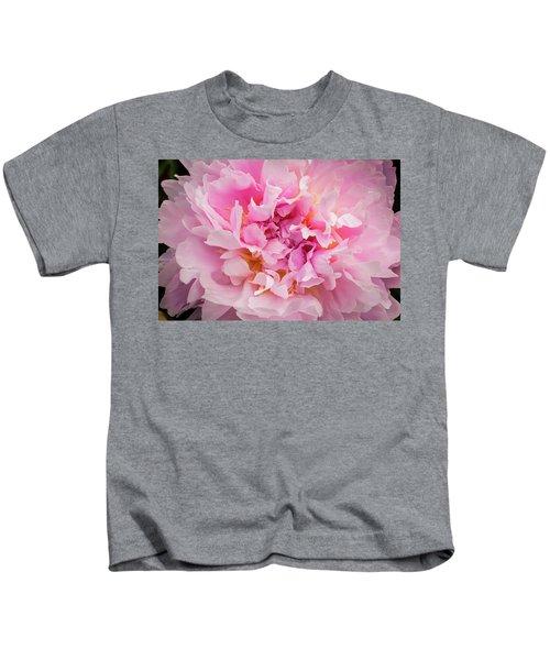 Pink Double Peony Kids T-Shirt