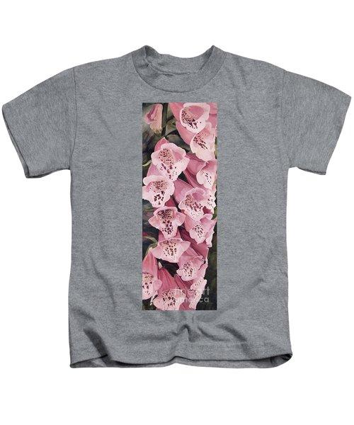 Pink Foxglove Kids T-Shirt