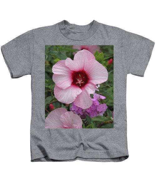 Pink Hibiscus Kids T-Shirt