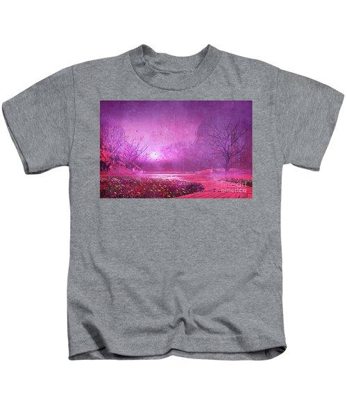 Pink Landscape Kids T-Shirt