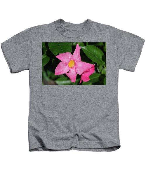 Pink Mandevilla Kids T-Shirt