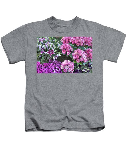 Pink, Purple And Lillies Kids T-Shirt