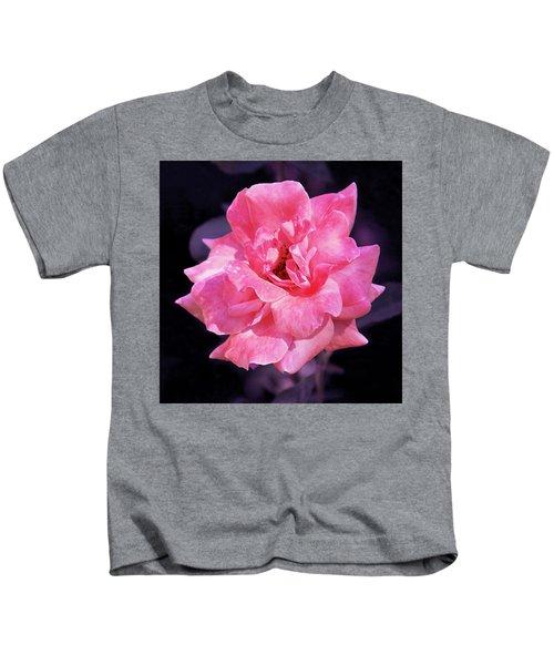 Pink Rose With Violet Kids T-Shirt