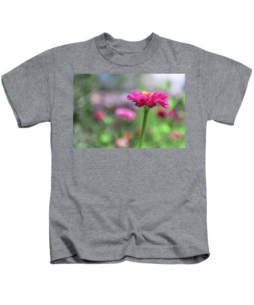 Pink Zinnia Kids T-Shirt