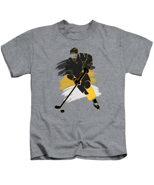 Pittsburgh Penguins Player Shirt Kids T-Shirt by Joe Hamilton