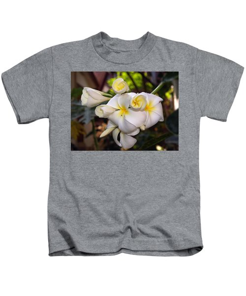 Plumeria Portrait Kids T-Shirt