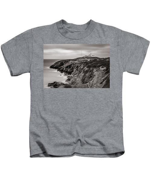 Point Lynas Lighthouse In Llaneilian On Anglesey Kids T-Shirt
