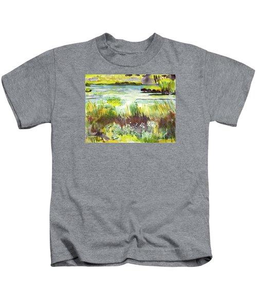 Pond And Plants Kids T-Shirt