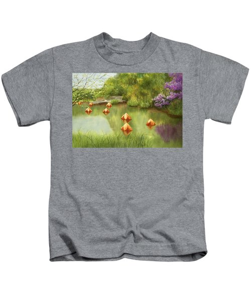 Pond At Olbrich Botanical Garden Kids T-Shirt