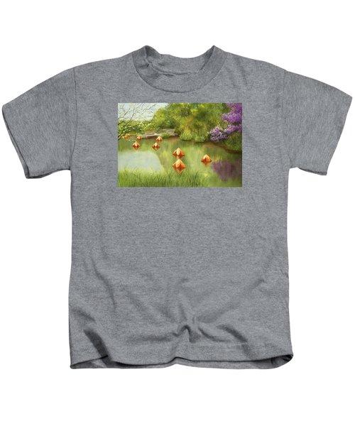 Pond At Olbrich Botanical Garden Kids T-Shirt