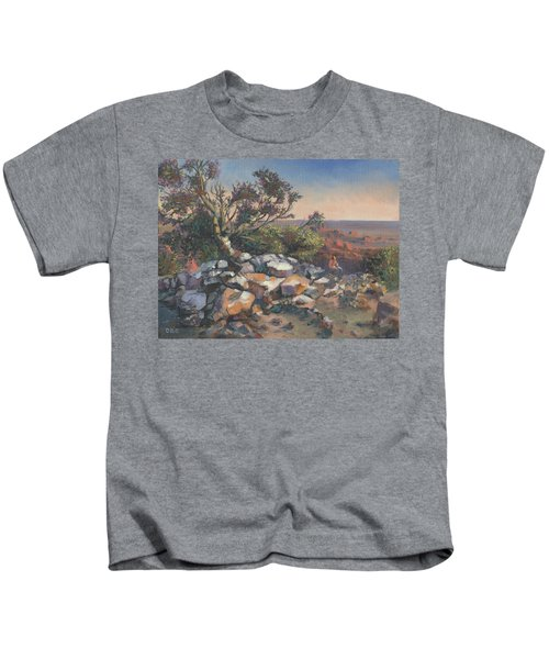 Pondering By The Canyon Kids T-Shirt