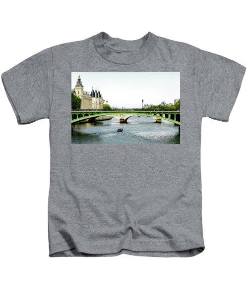 Pont Au Change Over The Seine River In Paris Kids T-Shirt