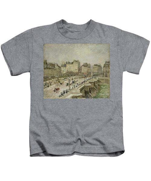 Pont Neuf Snow Effect Kids T-Shirt