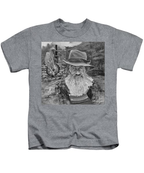 Popcorn Sutton - Black And White - Rocket Fuel Kids T-Shirt