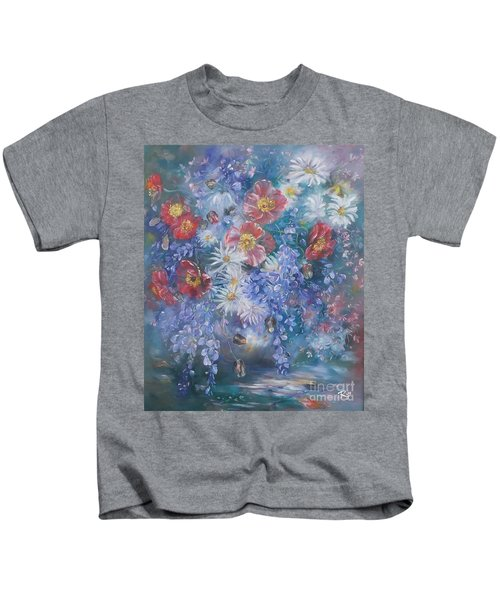 Poppies, Wisteria And Marguerites Kids T-Shirt