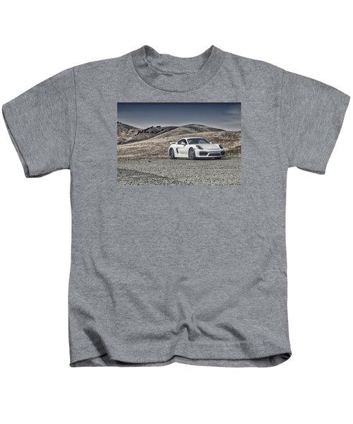 Porsche Cayman Gt4 In The Wild Kids T-Shirt