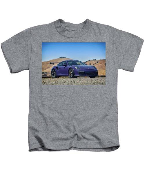 #porsche #gt3rs #ultraviolet Kids T-Shirt