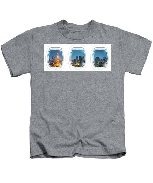 Porthole Frame On Tokyo Tower Kids T-Shirt