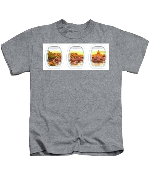 Porthole Windows On Rome Kids T-Shirt