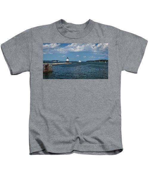 Portland Harbor, Maine Kids T-Shirt