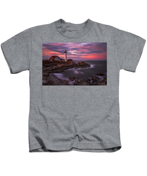 Portland Head Sunset Kids T-Shirt