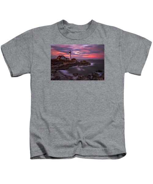 Portland Head Sunset Kids T-Shirt