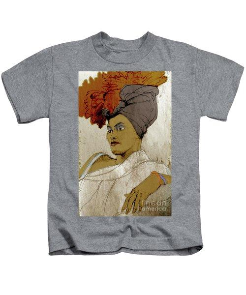 Portrait Of A Caribbean Beauty Kids T-Shirt