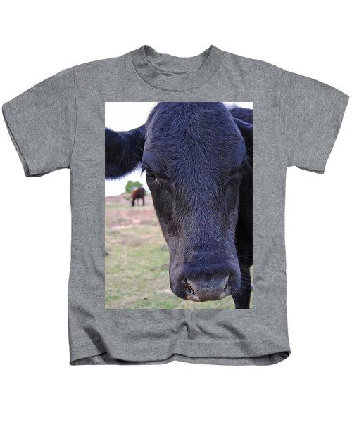 Portrait Of A Cow Kids T-Shirt