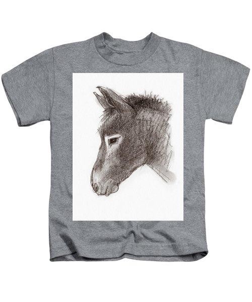 Portrait Of A Mule Kids T-Shirt