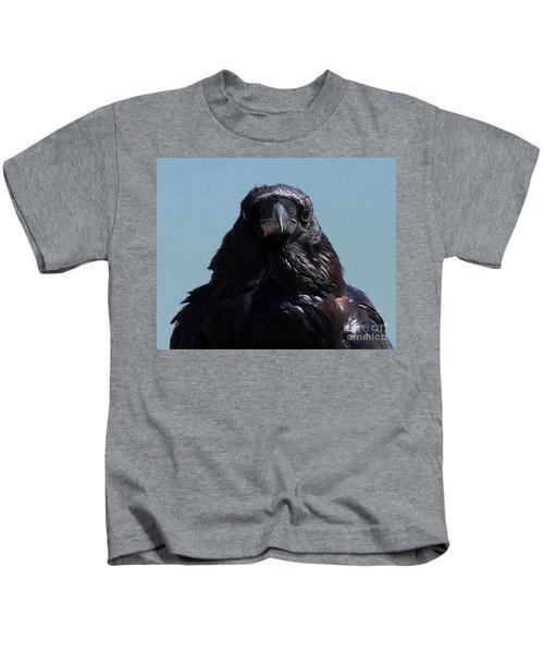 Portrait Of A Raven Kids T-Shirt