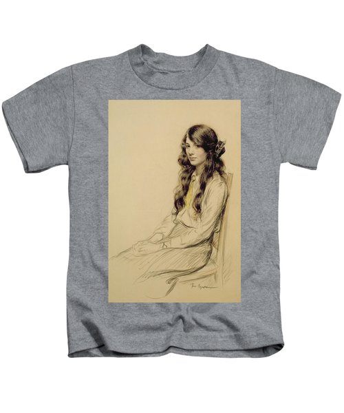 Portrait Of A Young Girl Kids T-Shirt