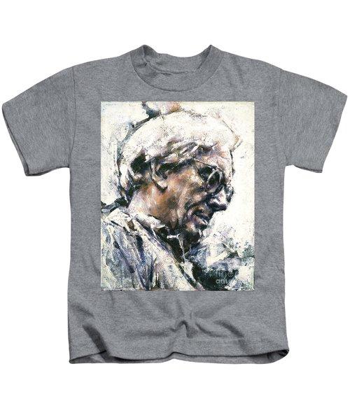 Portrait Of Robert Ashley Kids T-Shirt