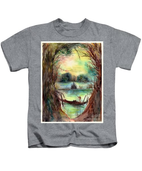 Portrait With A Boat Kids T-Shirt
