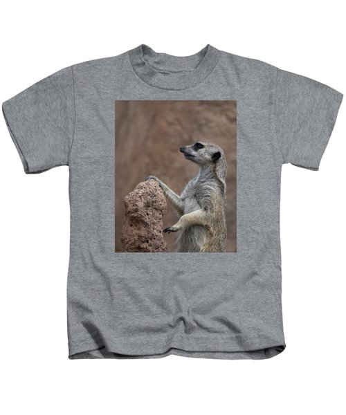 Pose Of The Meerkat Kids T-Shirt by Ernie Echols