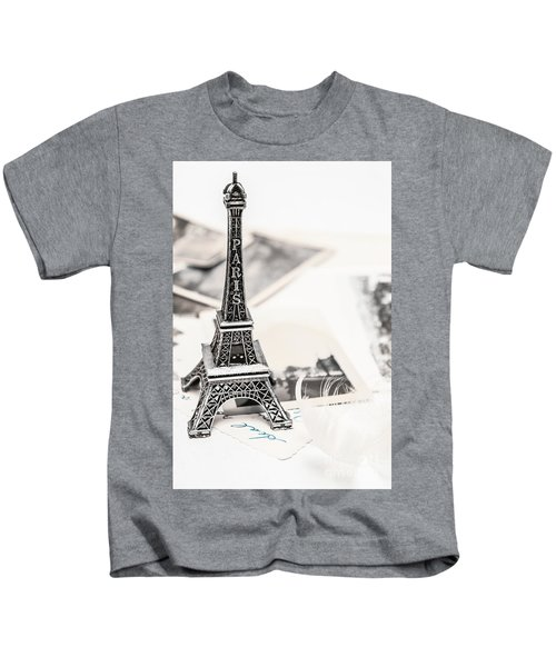 Postcards And Letters From Paris Kids T-Shirt