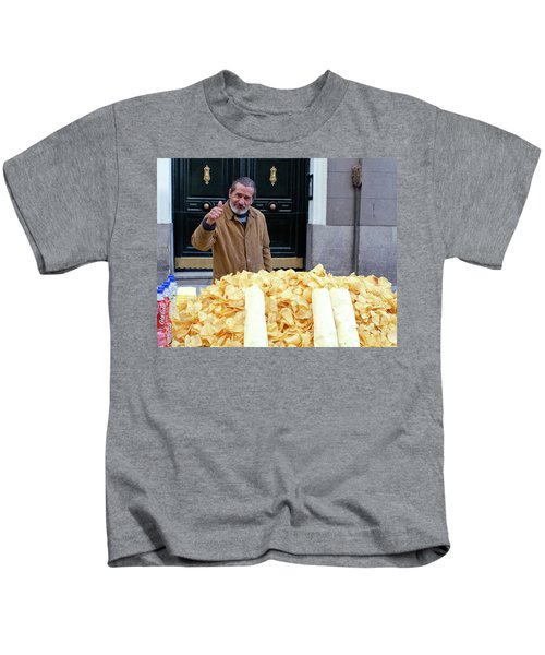 Potato Chip Man Kids T-Shirt