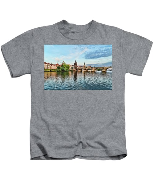 Prague From The River Kids T-Shirt