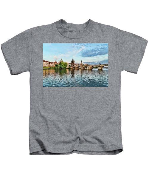 Prague From The River Kids T-Shirt